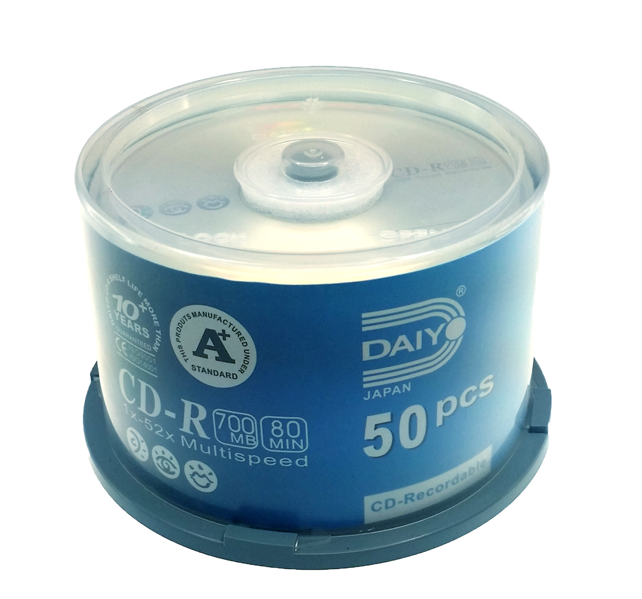 CD-R 700MB 1X-52X (50 Pcs) Spindle