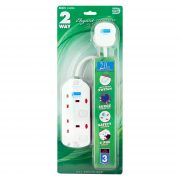 DE 292 Elegant Socket Strip with Surge Protector 2 Meter
