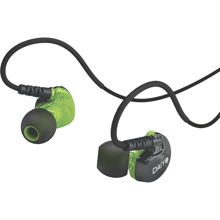 D1 Sports Ear-Hook Earphone With Mic (Green)With Mic (Green)