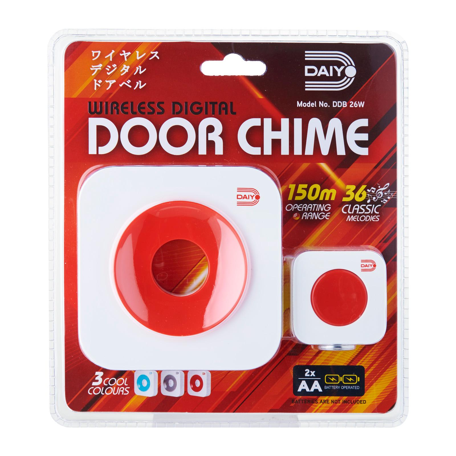 DDB 26WR Wireless Retro Door Chime (Battery) Red
