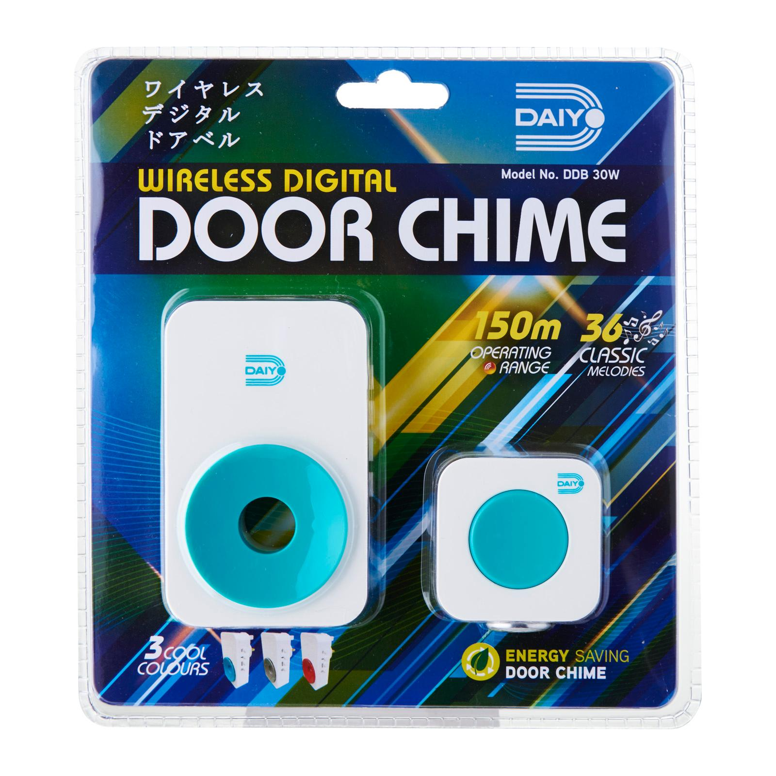DDB 30WT Wireless Door Chime (AC) Turquoise