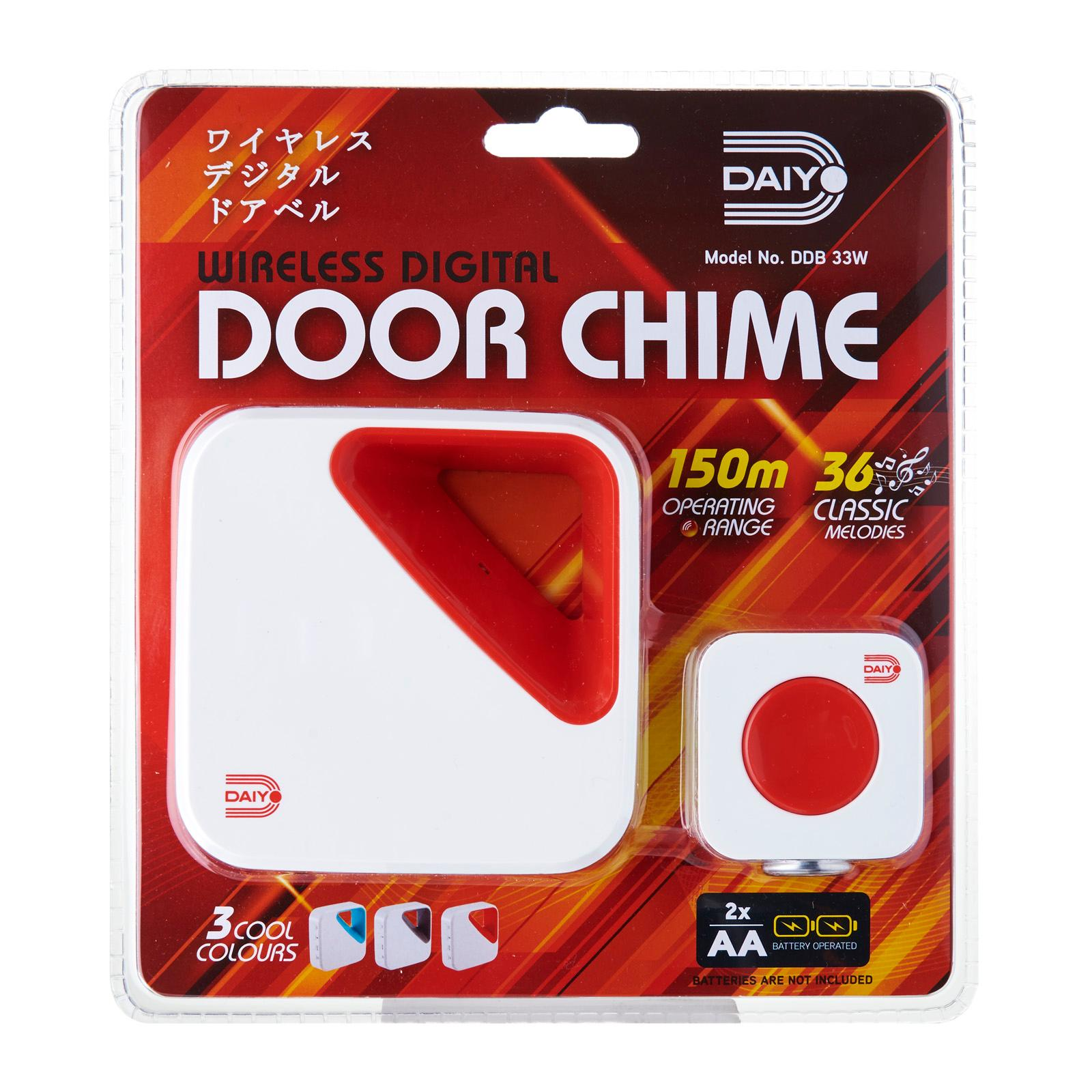 DDB 33WR Wireless Door Chime (Battery) Red