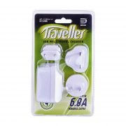 DE 304 Wall Traveller Charger 6.8A 4 USB Port