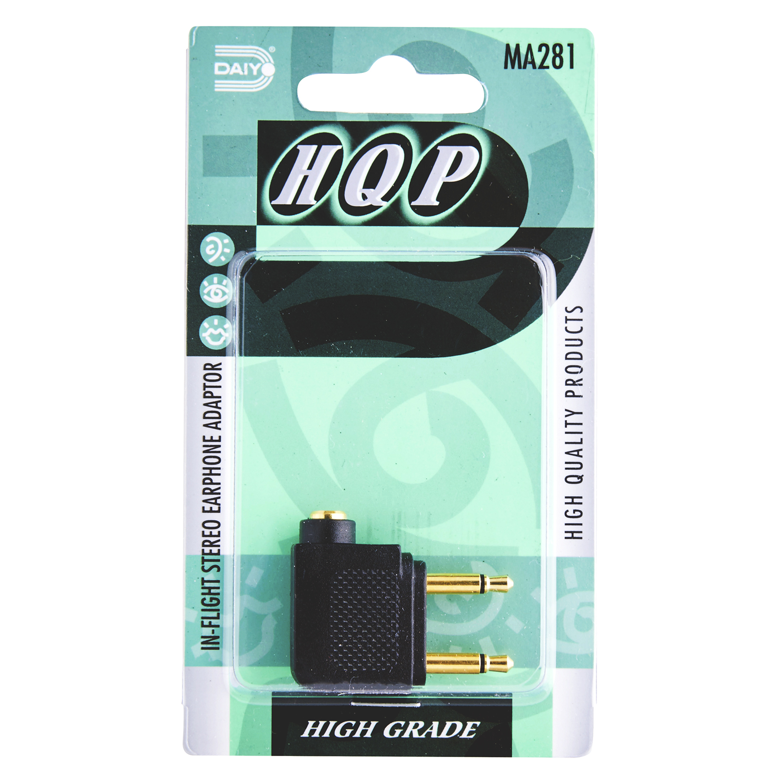 MA 281 Aeroplane / In-Flight Earphone Adaptor