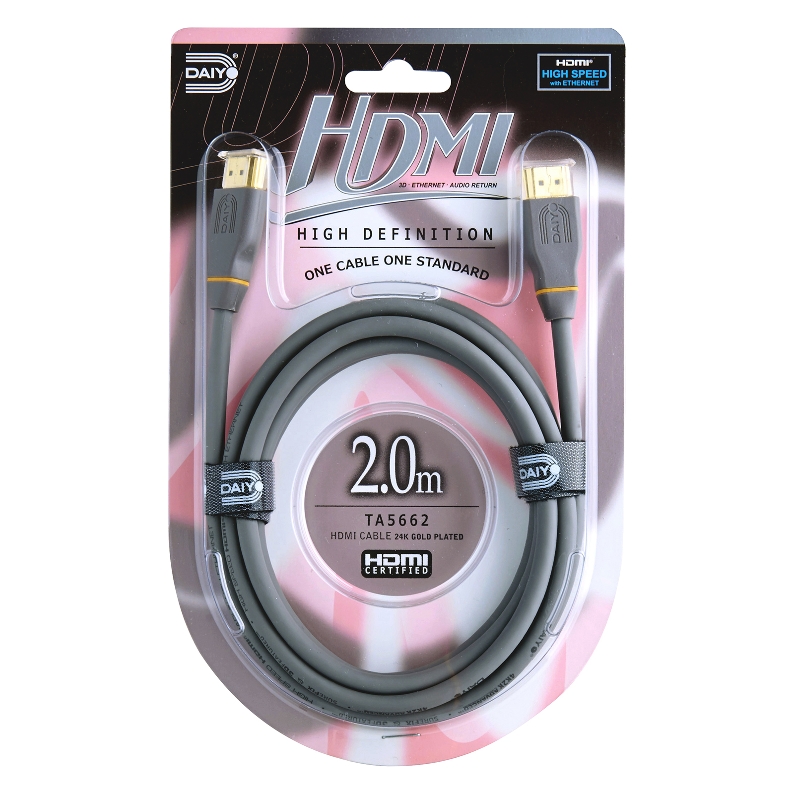 TA 5662 High Definition HDMI 4K Cable with Ethernet 2m